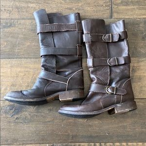 Women's Steve Madden leather buckle boots